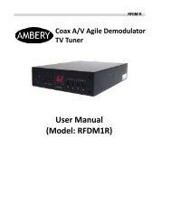 Coax A/V Agile Demodulator TV Tuner