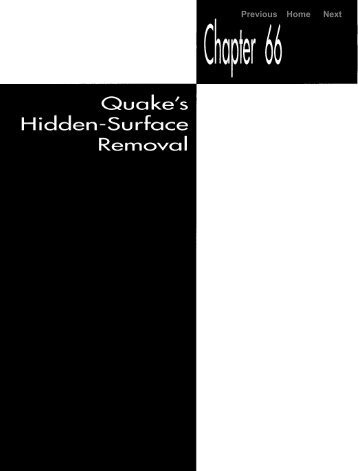 quake's hidden-surface removal