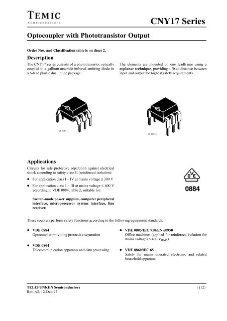 CNY17-3 optocouple-Lot de 10 pcs