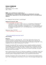 Saksframlegg - Rana Utviklingsselskap AS