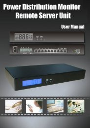 User Manual For Remote Metered Power Distribution PDU Monitor ...