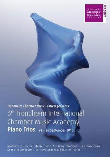 6th Trondheim International Chamber Music Academy - classic ...
