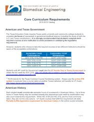 Core Requirements, 2010–2012