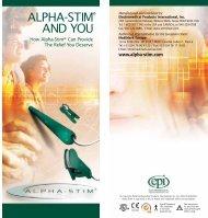 ALPHA-STIM® AND YOU - Alpha-Stim® Alpha-stim