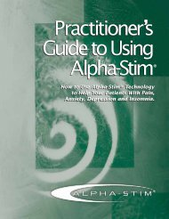 Practitioner's Guide to Using Alpha-Stim Practitioner's Guide to ...