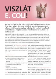 Viszlát E.Coli - MSD Animal Health