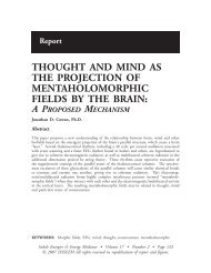 How the brain projects and receives the mind using the 40 Hertz ...