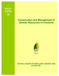 Conservation and Management of Genetic Resources of Livestock P ...
