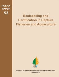 Ecolabelling and Certification in Capture Fisheries and Aquaculture