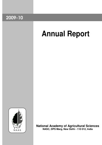 Annual Report - National Academy of Agricultural Sciences, India