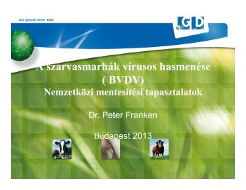 Dr.Peter Franken_A BVD elleni mentesítés nemzetközi tapasztalatai