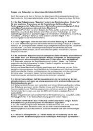 Fragen und Antworten zur Maschinen-Richtlinie 98/37/EG