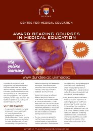 via online learning - School of Medicine - University of Dundee