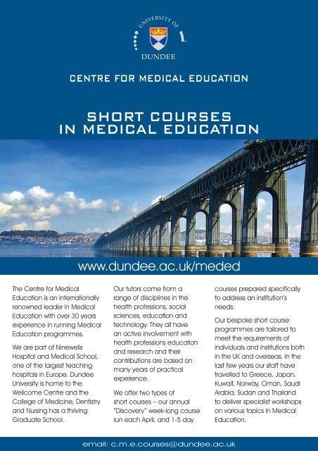 Short courSeS in medical education - School of Medicine
