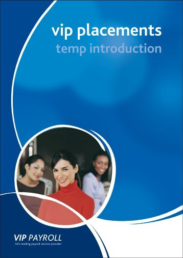Recruitment Temps Booklet - VIP Payroll