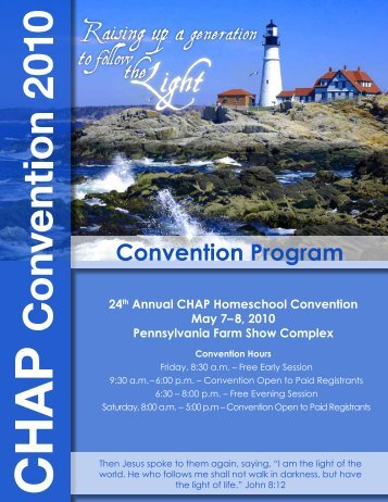 Convention Program - Christian Homeschool Association of ...