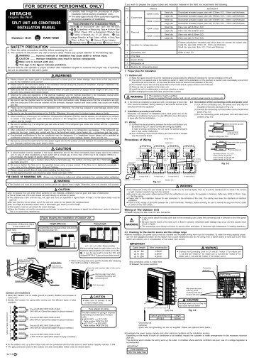 Split Unit Air Conditioner Installation Manual