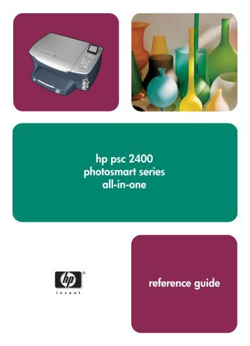 hp psc 2400 photosmart series all-in-one reference guide
