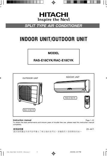 Hitachi Split air conditioner Service manual