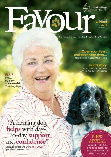 Download Favour magazine - Hearing Dogs for Deaf People