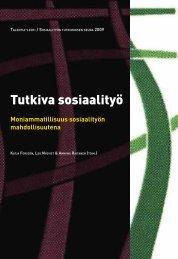 Tutkiva sosiaalityö - Sosiaalityön tutkimuksen seura