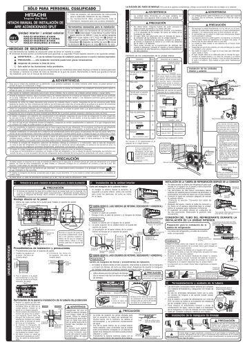 hitachi manual de instalación de aire acondicionado split sólo para ...