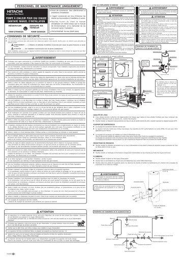 manuel d'installation du distributeur d'eau