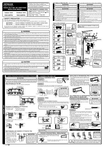 Hitachi air Conditioner Service Manual