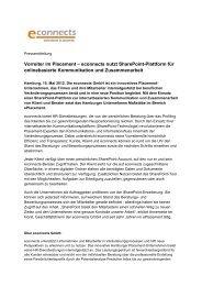 Vorreiter im Placement – econnects nutzt SharePoint-Plattform für ...