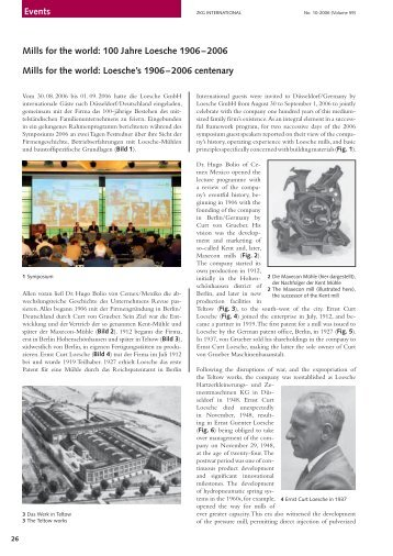 Events Mills for the world: 100 Jahre Loesche 1906 – 2006 ... - India