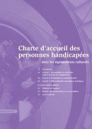 Charte d'accueil des personnes handicapées dans les ... - Arteca