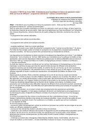 Circulaire du 5 mai 1999 - Ministère de la Culture et de la ...