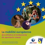 La mobilité européenne des artistes et techniciens du spectacle vivant