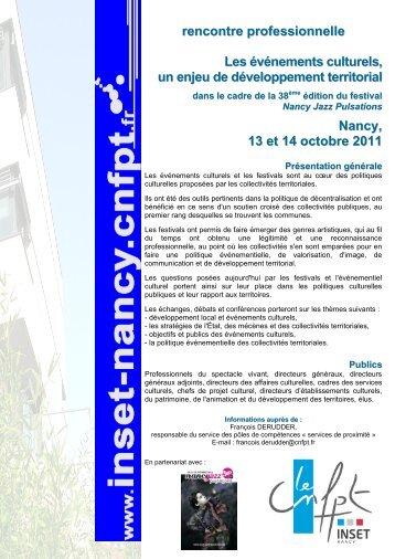 rencontre professionnelle Les événements culturels, un ... - Arteca