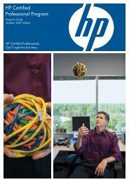 HP Certified Professional Program - Hewlett Packard