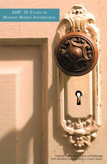 AHP: 20 YeArs of - Federal Housing  Finance Agency