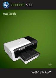 HP Officejet 6000 (E609) Printer Series User Guide - IT Info