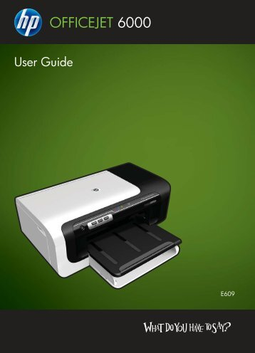 HP Officejet 6000 (E609) Printer Series User Guide - IT Info