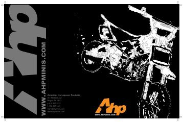 American Horsepower Products 315 Heiden Road ... - AHP minis