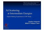 Nd Scattering at Intermediate Energies - Nuclear Physics ...
