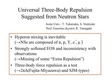 Baryon Matter and Neutron Stars - Nuclear Physics Experiment ...