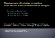 Measurements of inclusive pd-breakup cross section at low and ...