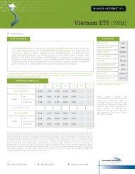 Vietnam ETF (VNM) - ETF Constituent Lists and Data