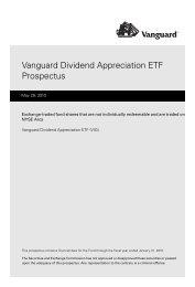 Vanguard Dividend Appreciation ETF Prospectus - and ETF ...