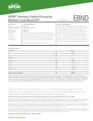 SPDR® Barclays Capital Emerging Markets Local Bond ETF
