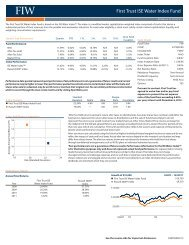 First Trust ISE Water Index Fund - and ETF Constituent Lists and Data