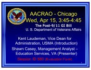 New Post-9/11 GI Bill Education Benefits - AACRAO