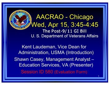New Post-9/11 GI Bill Education Benefits - AACRAO