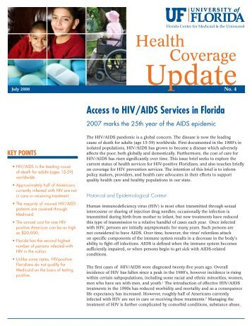 UpdateNo. 4 - Florida Center for Medicaid and the Uninsured