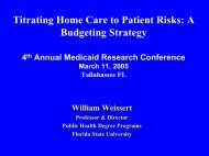 Titrating Home Care to Patient Risks- A Budgeting Strategy